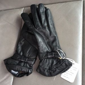 Leather women's gloves size M